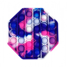 Popit Achteck pink-violett-blau