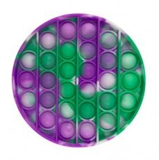 Jouet pops it | Disque violet-vert