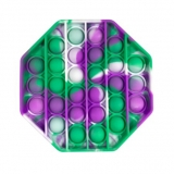 Purple-green octagon popit fidget