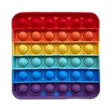 Popit giocattolo quadrato arcobaleno