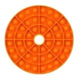 Popit Scheibe mit Loch orange