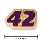 Pin «42» | Gold, transparentes Violett