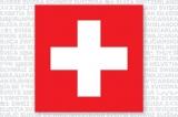 Swiss cross postcard