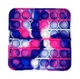 Popit Quadrat pink-violett-blau